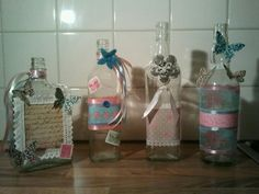Bottles decorated
