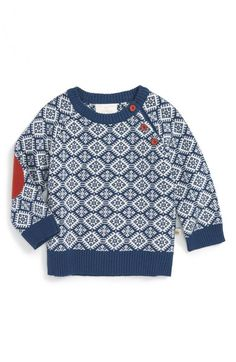 Rosie Pope Geo Pattern Sweater (Baby Boys) available at #Nordstrom