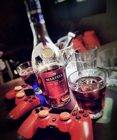 Nothing's better than having a good drink and playing games on a weekday night!  #drinks #drink #martell #drinkup  #liquor  #alcohol #controller #play #ps4 #cup #bottle #singapore #northeast #serangoon #serangoongardens #picoftheday #follow4follow #instacool #webstagram #cognac #amazing #chilling #fun #goodtime #memories #happy #wednesday