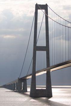 Grote Beltbrug Denemarken  Brug tussen Funen en Seeland. heel erg indrukwekkend.