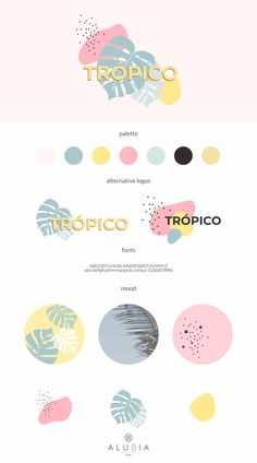 Introducing Trópico: Premade simple& minimalist logo design with inspired retro vibe. Logos will be adjusted with your chosen business name, color and tagline (optional). Illustration & Graphics by ALUBIA design. Logo Branding, Self Branding, Business Branding, Business Design, Font Logo, Branding Ideas, Site Web Design, Brand Design, Design Design