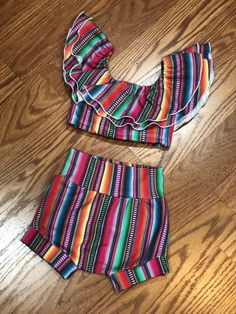 Excited to share this item from my shop: Serape outfits outfits outfit Mexican Fashion, Mexican Outfit, Little Girl Outfits, Kids Outfits, Baby Girl Fashion, Kids Fashion, Mexican Babies, Multiple Outfits, Baby Swimsuit