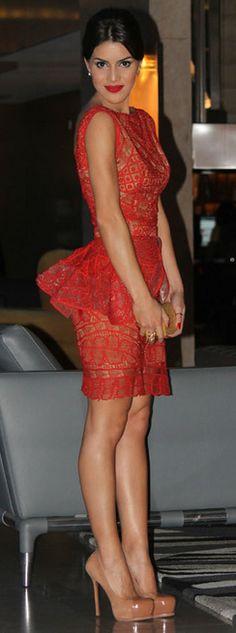 cute peplum dress ,like the lower peplum placement for longer torso and flattering waistline.