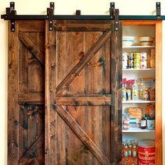 Puertas de madera correderas tipo granero