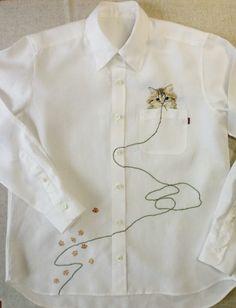 ka10...embroidered shirt by hiroko kabota