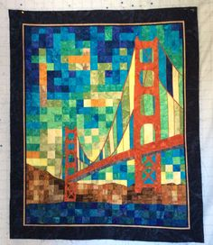 Golden Gate Bridge San Francisco Map quilt