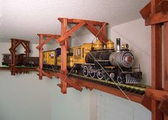Train track around the room