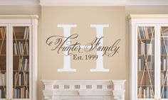 wall decal as an idea to personalize your home. pinned by www.karensavagedesign.com