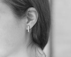 "Silver earings ""Geometry"""