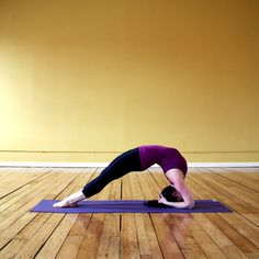 Two-Legged Inverted Staff Pose: Heres an advanced backbend that targets the upper spine.