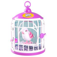 Little Live Pets Bird with Cage - Bella Rina Bird In A Cage, Pet Bird Cage, Lps Pets, Pet Toys, Baby Doll Nursery, Baby Dolls, Toys For Girls, Kids Toys, Doll Bunk Beds