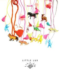 Little Lux Necklaces // PoppysCloset.com #gifts #jewelry #kids