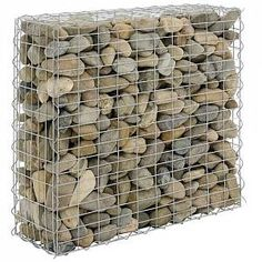 Gabion Stone Basket Wall Wire for sale online Bamboo Privacy Fence, Privacy Fence Panels, Gabion Fence, Metal Garden Fencing, Metal Fence, Gabion Wall Design, Steep Hillside Landscaping, Panel W, Gabion Stone