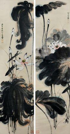 """Zhang Daqian (1899-1983), """"Double Lotus,"""""""