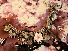 """Charm Bracelet """"Inuyasha"""" themed, anime, manga, fantasy, japanese, inspirational, love"""