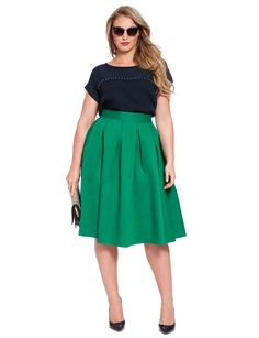 Studio Midi Skirt | Women's Plus Size Skirts | ELOQUII