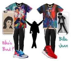 """""""Michael Jackson Inspired outfits"""" by glamour-jaja on Polyvore featuring adidas, NIKE, Casetify, RIP and MJ"""