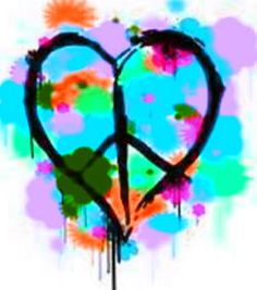 Painted Heart Peace Sign