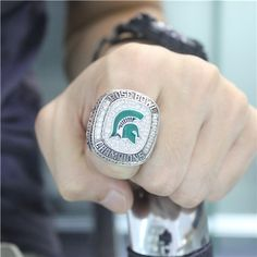 Custom 2013 Michigan State Spartans Rose Bowl and Big Ten Champions Ring