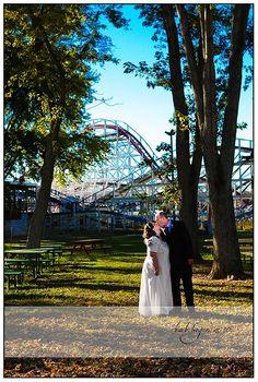 Amusement park wedding