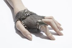 ann demeulemeester #silver #hand #jewelry