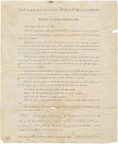 Handwriting in late-nineteenth-century letters is almost universally beautiful: regular, precisely slanted, and pleasing to the eye. This broadside, wh ...