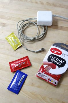 Frayed cord? Sugru can fix it! And it can fix a ton of other things too.