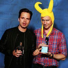 Seb Bucky & Loki Hiddleston IS THIS REAL LIFE