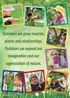 Outdoors Poster from Bookoola Ink Eylf Learning Outcomes, Learning Stories, Play Based Learning, Toddler Learning, Learning Through Play, Project Based Learning, Early Learning, Children Learning Quotes, Childcare Environments