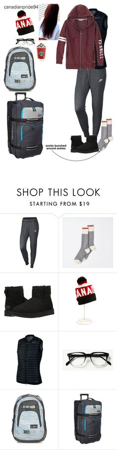 """jettin' off to the 6ix // Ella"" by canadianpride94 ❤ liked on Polyvore featuring NIKE, UGG Australia, Dakine and Rachel"
