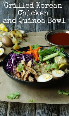 Last week, we brought you a Chipotle inspired quinoa bowl from @WellPlated, this week it's a Korean Chicken Quinoa Bowl from @ChefBillyParisi. Get the recipe at billyparisi.com, you'll be so glad you did, trust us! #quinoa #chicken #cleaneating #deliciousness