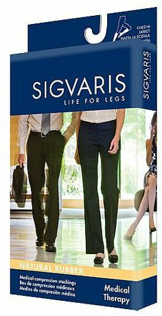 Sigvaris 503C Knee-Hi 30-40mmHg Open Toe High Compression. Recommended for: CVI, Post DVT, Post-thrombotic syndrome, including: edema, hyperpigmentation, stasis dermatitis, stasis cellulitis, corona phlebectatica. venous stasis ulcers. Post trauma and fractures. Lymphedema. Long distance travel. Cosmetic coverage for unsightly leg blemishes. Irregularly shaped limbs. Post vein stripping, ligation, phlebectomy, and sclerotherapy of large veins.