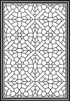 Welcome to Dover Publications Geometric Genius Stained Glass Coloring Book Coloring Book Pages, Printable Coloring Pages, Coloring Pages For Kids, Coloring Sheets, Geometric Coloring Pages, Mandala Coloring, Motifs Islamiques, Stained Glass Patterns, Copics