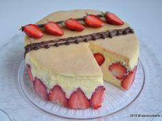 Tort cu capsuni Fraisier reteta frantuzeasca Cheesecake, Gem, Cookies, Sweet, Desserts, Recipes, Food, Activities, Random
