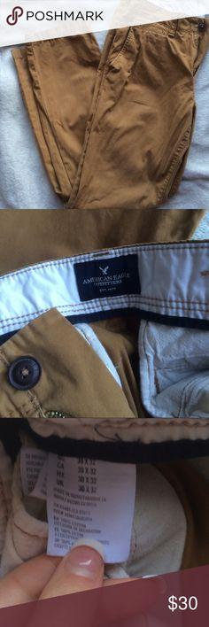 DELETING SOON 🔴Men's tan pants #poshman Barely worn! American Eagle Outfitters Pants Chinos & Khakis