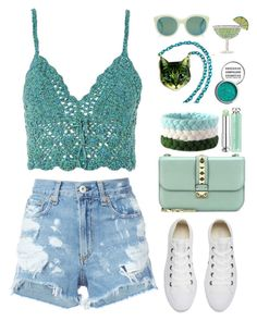 """""""Summer Time"""" by gicreazioni ❤ liked on Polyvore featuring Topshop, rag & bone/JEAN, Converse, Valentino, Christian Dior, Forever 21 and Andy Wolf"""