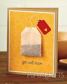 This is a super cute tea bag card