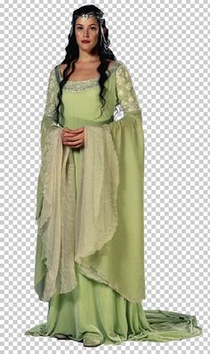 IMAGE Arwen from lord of the rings is my costume inspiration. He look is very elegant and medieval. When choosing my costume i am going to look at different medieval dresses. Tolkien, Lord Of Rings, Arwen Undomiel, Elfa, Green Gown, The Costumer, Beautiful Costumes, Fantasy Costumes, Medieval Dress