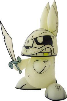Joe Ledbetter's Ghost Pirate Bunny - Glow in the Dark
