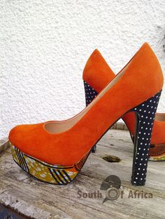 Polka Dot Orange Court by SouthOfAfrica on Etsy, $59.00