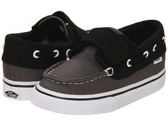 Vans Kids Zapato Del Barco V (Infant/Toddler) (2 Tone) Pewter/Black - Zappos.com Free Shipping BOTH Ways