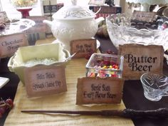 Harry Potter Food idea...I really want to have a Harry Potter party
