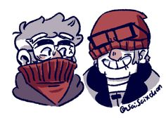 just some silly grunks bein' grunks (side headcanon: i actually think that Ford's sweater was originally Stan's for reasons given in this post, so i think that hat and sweater actually came as a pair....