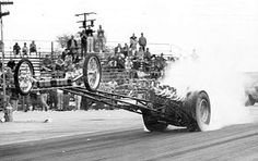 Pulsator digger at San Fernando drag strip (drag racing every Sunday, 52-weeks a year). 46# of lead TAPED to the front axle.- Early diggers and weed burners... - Page 4 - Yellow Bullet Forums