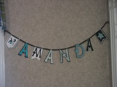 Name banner for my daughters graduation party made with Pennant Cricut Cartridge