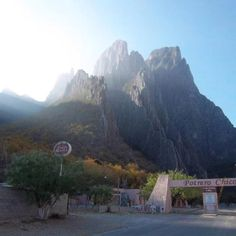The mountains of Potrero Chico, Mexico.
