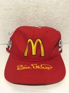 Vtg New Bill Elliott Hat McDonalds Racing Team  94 Red Snapback Made by  Kudzu  343beeafe36c