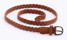 New Arrival! Women belt Handwork Braid Polyester Leather Belt Metal Buckle Female Lose Weight Waist Belt QW221 Free Shipping