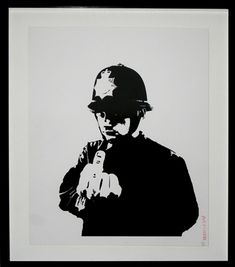 """Banksy is unquestionably the most famous urban artist to have emerged from the British Street scene.   One of his most iconic images """"Rude Copper"""" is now live in artnet Auctions."""