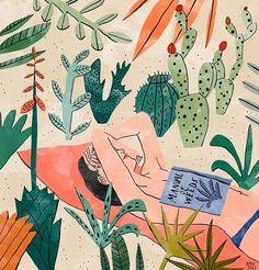 illustration by Dutch artist Bodil Jane Art And Illustration, Hipster Illustration, Map Illustrations, Character Illustration, Series Poster, Dutch Artists, Motif Floral, Art Design, Design Poster